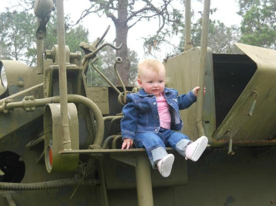Fort Polk, LA: Charlotte on one of the atractions they have for viewing.