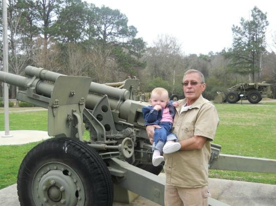 Fort Polk, LA: Baby and uncle at Memorial PArk