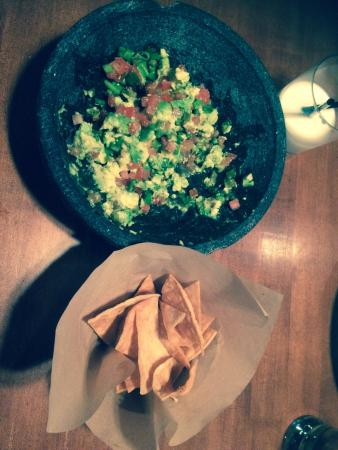 Fort McMurray, Канада: Guacamole and chips. They make it at your table. So good. Just ask for no jalapeños
