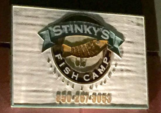 Front picture of stinky 39 s fish camp santa rosa beach for Stinkys fish camp