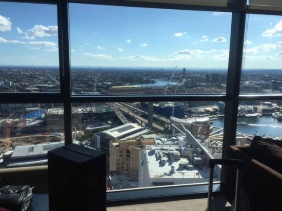 view from the 40th floor darling harbour picture of. Black Bedroom Furniture Sets. Home Design Ideas