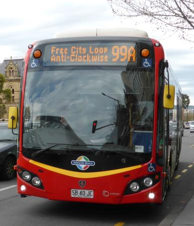 Adelaide Metro Free City Connector Bus and Tram