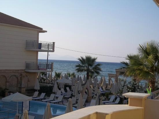 Pool part seaview from our balcony for The balcony hotel zante