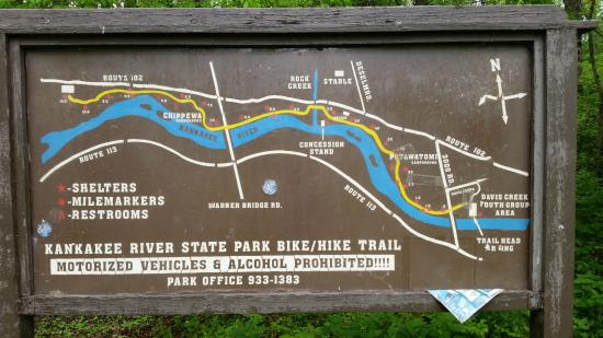 Bourbonnais (IL) United States  City new picture : Kankakee River State Park Photo: Trail Map