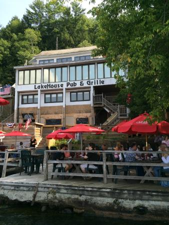 Bomoseen, VT: A beautiful August day at the Lakehouse Pub and Grille