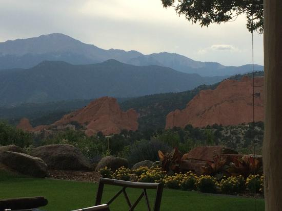 Garden of the Gods Club and Resort: View while you are dining on the outdoor patio