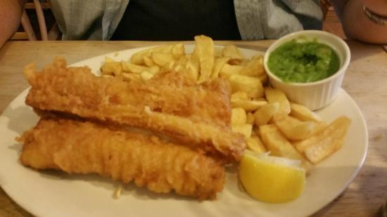 Fishers hunstanton rock chips and mushy peas for Eds fish and chips