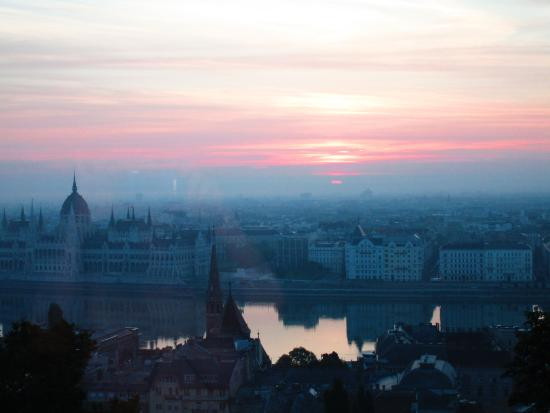 Sunrise Over The Danube From Our Room Picture Of Hilton Budapest Castle District Budapest