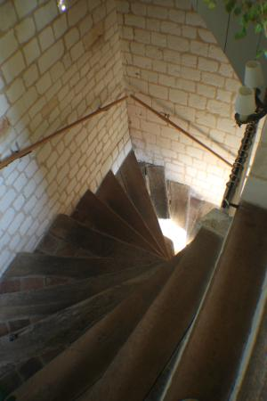 Pas-de-Calais, France: winding stairs to the second floor