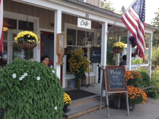 Deposit, NY: the front of the cafe