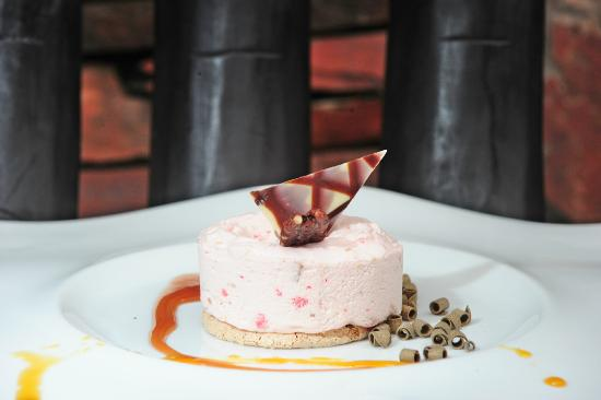 & Restaurant: Nougat glace with apricots and pink praline. Nougat ...