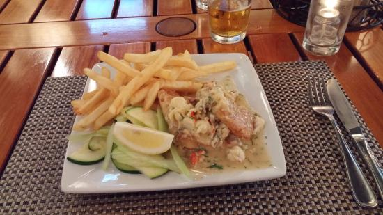 Crazy good opakapaka w lobster dill sauce picture of for Uncle s fish market and grill