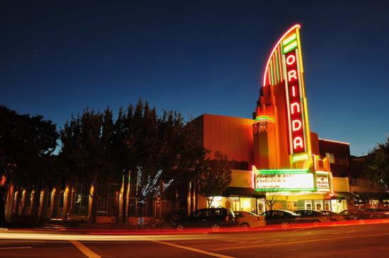 Orinda Theater at night