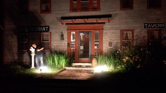 Sandisfield, MA: Night time view of the front of the Inn