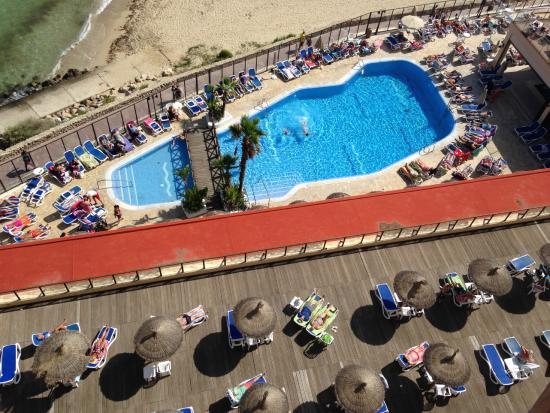 View from 729 of hotel pool picture of globales santa for Taksim santa lucia hotel