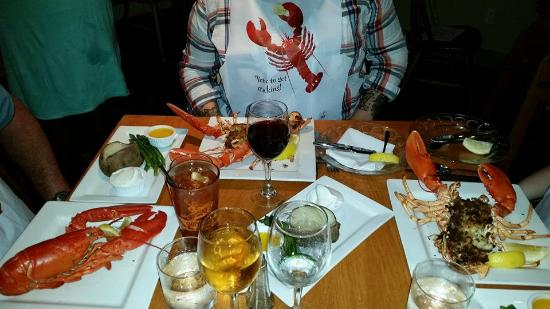 Essex, MA: 2 stuffed lobsters and 1 boiled to perfection