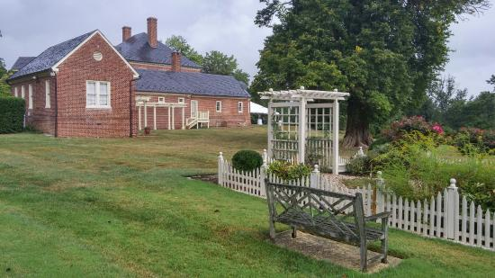 Montpelier Mansion: Garden and the rear of the Mansion.