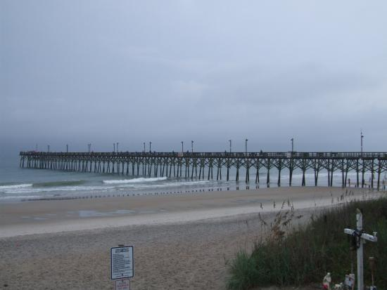 Standing looking back to shore picture of surf city pier for Surf city fishing pier