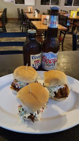 Kingsburg, CA: Pulled pork sliders.