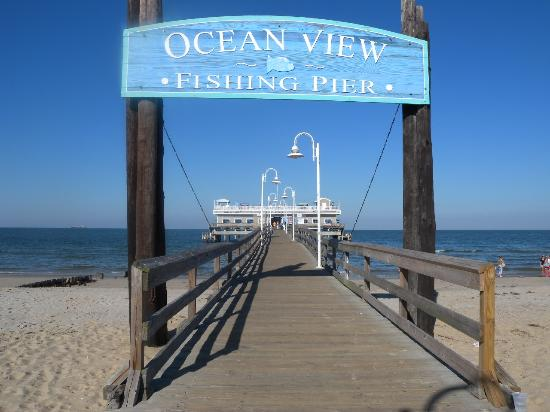 Ocean view fishing pier entrance picture of ocean view for Fishing piers in va