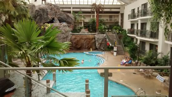 Indoor tropical atrium and pool picture of best western for Indoor gardening ontario