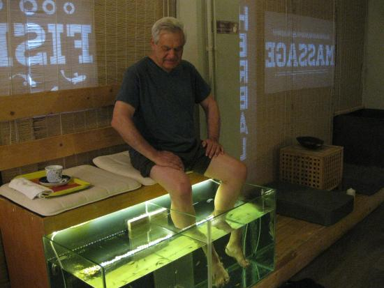 Entrance to the spa picture of athens fish spa massage for Fish pedicure los angeles