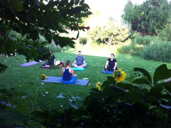 Paonia, CO: Yoga on the lawn