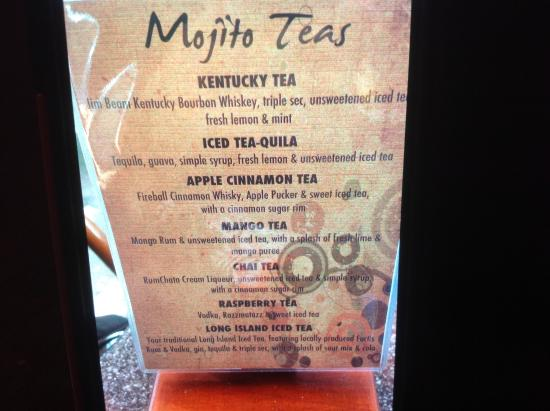 the drink menu picture of mojito cuba caribe new hope tripadvisor