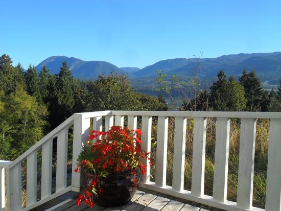 Sechelt, Καναδάς: View from the 'Cozy Suite patio'