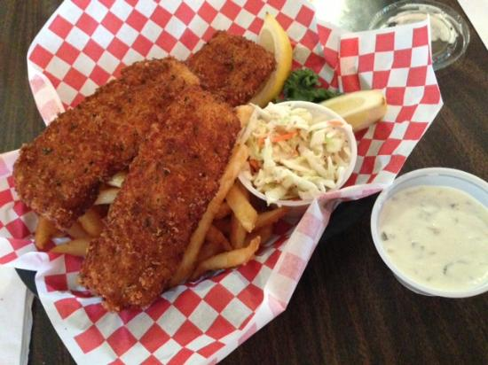 Bayview, ID: EXTRA crunchy fish and chips good tartar