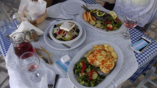 Traditional greek food picture of ammos taverna for Ammos authentic greek cuisine