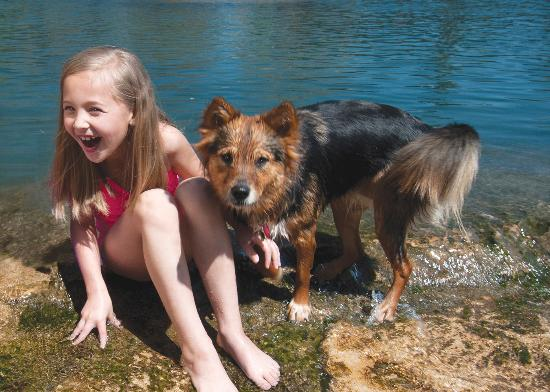 Bring the dog! Tons of trails to walk on and of course the San Marcos River to play in