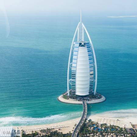 Arriving by helicopter to the burj al arab picture of for Burj al arab rates