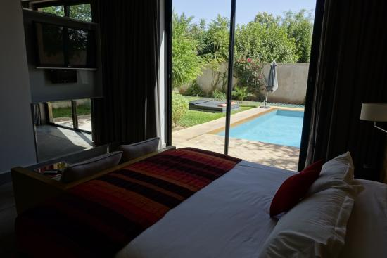 Bedroom with private pool for Sirayane boutique hotel