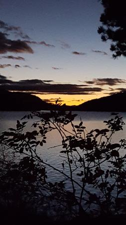 Marion, MT: sunset over the lake