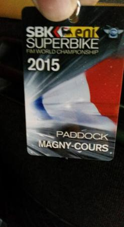 Magny, France: Pass paddock