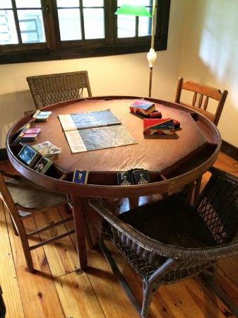 Piggott, AR: Hemingway's poker table--he left it after the divorce so I'm assuming it's a loser!