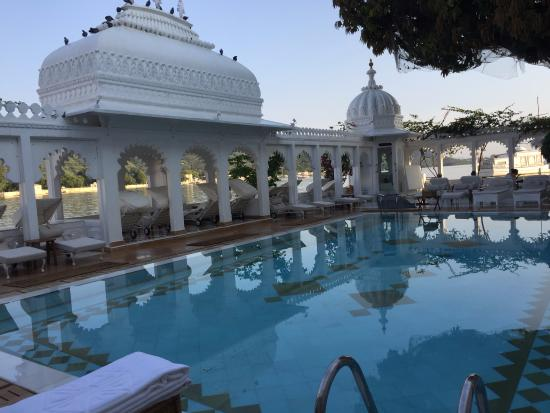 Picturesque Swimming Pool Picture Of Taj Lake Palace Udaipur Udaipur Tripadvisor