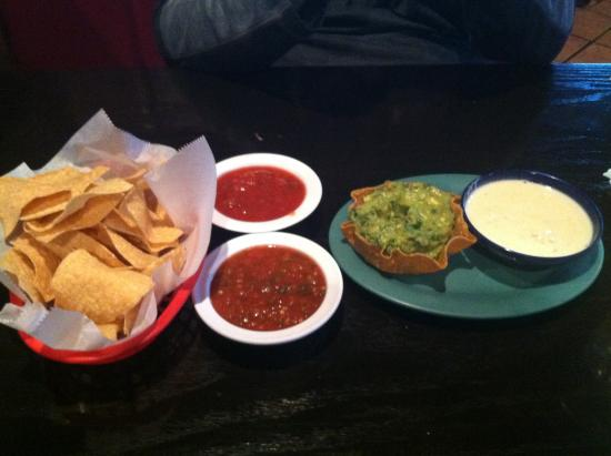 Our guacamole salsa and queso appetizers picture of el for El salas restaurante