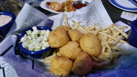 Fried scallops w grilled shrimp add on picture of for Ford s fish shack ashburn va