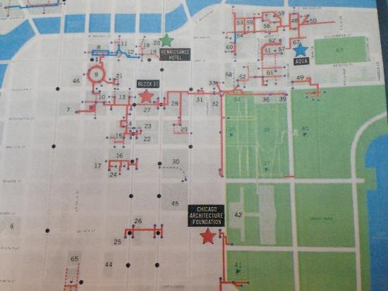 Pedway Map Legend  Picture Of Chicago Pedway Chicago
