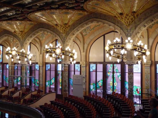 View of upstairs seating - Picture of Palau de la Musica ...