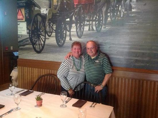 Mayville, WI: In dining room on our 46th Anniversary enjoying the Packer game.