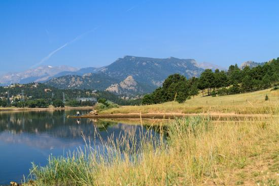 The Estes Park Resort: view from property toward downtown Estes Park