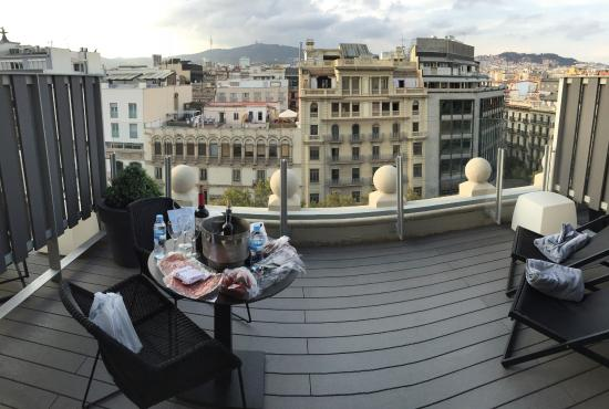 View from room 39 s balcony picture of hotel catalonia - Restaurant passeig de gracia ...