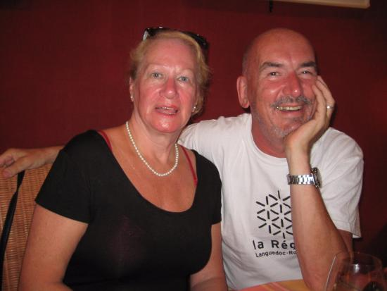 Fabrezan, France: Enjoying Le Clos with my mother-in-law
