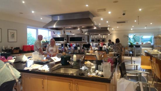 One of our tutors picture of bettys cookery school for Perfect kitchen harrogate menu