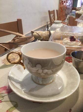 Red Lion, PA: My favorite tea cup, lavender tea with milk and honey