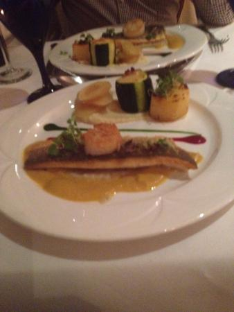 Castlerigg, UK: Seabass with lots of lovely extras