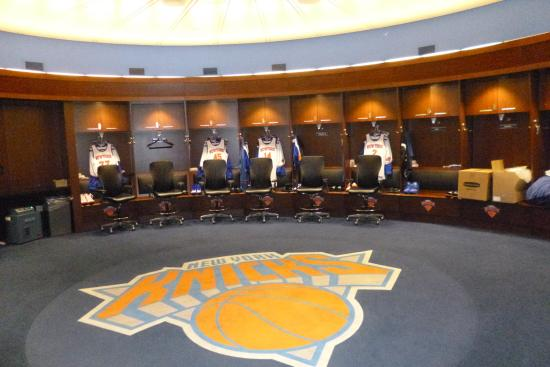 New York Knicks Locker Room Picture Of Madison Square Garden All Access Tour New York City